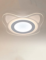 Flush Mount ,  Modern/Contemporary Painting Feature for LED Metal Living Room Bedroom Dining Room Kids Room