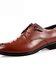 גברים-נעלי אוקספורד-PU-רצועה אחורית--יומיומי-עקב עבה
