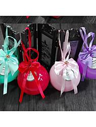 10 Stück / Set Geschenke Halter-Kugel Plástico Süßigkeiten Gläser und Flaschen Geschenk Schachteln Nicht personalisiert