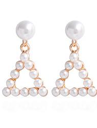 Drop Earrings Earrings Set Earrings Imitation PearlBasic Circular Unique Design Pendant Cute Style Imitation Pearl Handmade Fashion