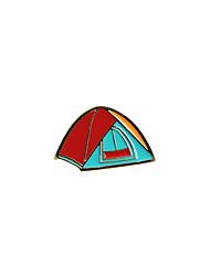 Fashion Trendy Cute  Enamel Tent Metal Brooch