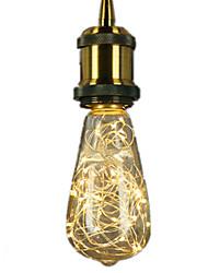 3W E27 LED-hehkulamput ST64 25 Integroitu LED 300 lm Lämmin valkoinen Koristeltu AC 220-240 V 1 kpl