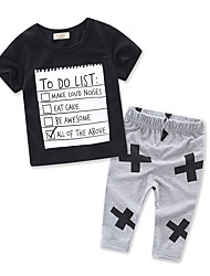 Boys Clothes Casual/Daily Formal Sports Print Geometric Galaxy SetsCotton Summer Short Sleeve Boy Clothing Set