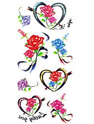 Tatuagens Adesivas Série Florida Estampado Lombar Á Prova d'águaFeminino Masculino Adolescente Tatuagem Adesiva Tatuagens temporárias