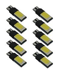 10pcs t10 lâmpada largura cob w5w 6000k canbus luz interior do carro dc9-12v
