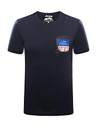 Homens Camiseta Pesca Respirável Verão Azul Branco