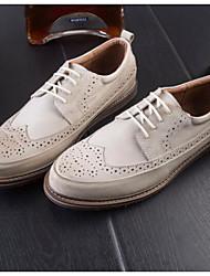 נעלי גברים&להחליק על האביב נוחות עור טול מקרית