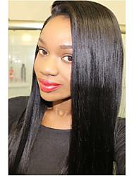 8 a perun neitsyt hiuksista luonnollisen mustan värin pitkä silkki suorassa Nyörilliset kanssa vauvan hiukset