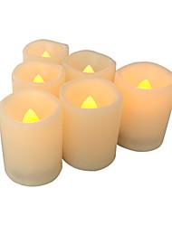 Sada 6 bezplamenných svíček bezplameňových votivních svíček vedených votives s časovými bateriemi řízenými svíčky s dlouhou životností