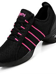 Sapatos de Dança(Branco Preto Vermelho) -Feminino-Não Personalizável-Tênis de Dança