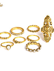 Ring Midi Rings Jewelry Basic Unique Design Gothic Handmade Fashion Vintage Punk Hip-Hop Classic DIY Alloy Jewelry Gold Jewelry For