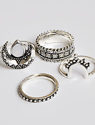 Ring Midi Rings Basic Euramerican Handmade Fashion Vintage Bohemian Punk Classic Alloy Jewelry Silver Jewelry ForWedding Party Special