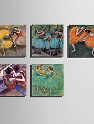 Ihmiset Classic European Style,1 paneeli Kanvas Neliö Tulosta Art Wall Decor For Kodinsisustus