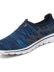Men's Athletic Shoes Spring Fall Couple Shoes Tulle Casual Flat Heel Lace-up Black/Blue Black/White Running