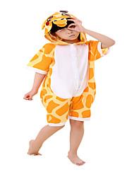 Kigurumi פיג'מות ג'ירפה /סרבל תינוקותבגד גוף פסטיבל/חג הלבשת בעלי חיים Halloween כתום פסים כותנה תחפושות קוספליי ל יוניסקס נקבה זכר ילד
