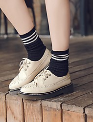 עקבים של נשים להאיר נעלי עור הפטנט מזדמנים ורודים בצבע בז 'שחור