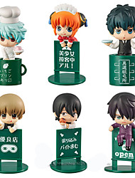 Anime Action Figures Inspired by Gintama Kagura PVC 5 CM Model Toys Doll Toy 1set