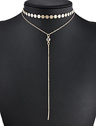 Women's Lariat Y Necklaces Jewelry Circle Pearl Alloy Dangling Style Beige Jewelry ForWedding Party Anniversary Business Engagement Daily