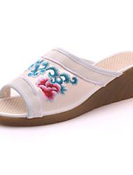 Oxfordské-Plátno-Pohodlné Novinky S páskem vyšívané boty-Dámské--Outdoor Kancelář Šaty Běžné Atletika-Klín