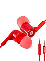 Em04 subwoofer oído con auriculares de trigo auriculares de alta fidelidad controlados por alambre de metal