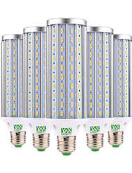 45W E26/E27 Żarówki LED kukurydza 140 SMD 5730 4350-4450 lm Ciepła biel Zimna biel Dekoracyjna AC 85-265 V 5 sztuk