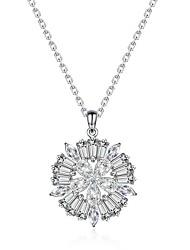 בגדי ריקוד נשים שרשראות תליון תכשיטים Round Shape תכשיטים זירקון סגסוגת עיצוב מיוחד אופנתי Euramerican תכשיטים עבורחתונה Party יום הולדת