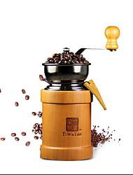 Máquina de moagem manual com grãos de café e máquina de café moída