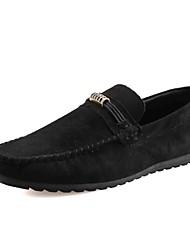 Men's Loafers & Slip-Ons Spring Summer Comfort PU Wedding Office & Career Party & Evening Flat Heel Green Gray Black