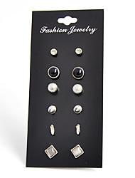 עגילים צמודים זירקונה מעוקבת שחור טבעי אבן יקרהעיצוב בייסיק עיצוב מעוגל אופנתי וינטאג' מותאם אישית עבודת יד עשה-זאת-בעצמך סגנון