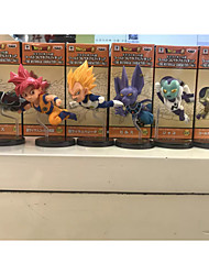 Anime Action Figures Inspired by Dragon Ball Goku PVC 8 CM Model Toys Doll Toy 1set