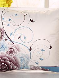 1 pcs Soie Housse de coussin Taie d'oreiller,Fleur Nouveauté Décontracté Rétro Traditionnel/Classique Euro