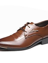 Herrer Støvler Bullock sko Formelle sko Mikrofiber Forår Sommer Efterår Vinter Bryllup Kontor Fest/aften Gang ModestøvlerNitte