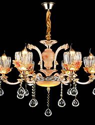 מנורות תלויות סגסוגת אבץ מאפיין for קריסטל סגנון קטן מתכת חדר שינה חדר אוכל פנימי 6 נורות