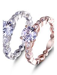 Prsten Zásnubní prsten Kubický zirkon láska Elegantní Módní Platinová Barva ozdobného kamene Zirkon Šperky ProSvatební Zvláštní