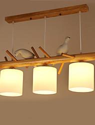 Подвесные лампы ,  Современный Традиционный/классический Живопись Особенность Дерево/бамбукГостиная Спальня Столовая Кабинет/Офис Детская