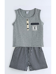Boys' Solid Sets,Cotton Summer Clothing Set