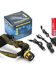 פנסי ראש LED 900 Lumens 4 מצב Cree Q5 18650 סוללה נטענת מיקוד מתכוונן עמיד לחבטות עמידות בפני כתמים חירום קל במיוחד מתח גבוה Zoomable
