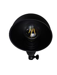 Qsgd ac220v-240v 4w e27 geleid licht geschilderde stalen muur lamp stom zwart amerikaanse koffie decoratie retro muur licht lightsaber