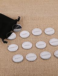 Personalized Wedding Arras Customized Spanish Unity Coins Silver Couple Arras Coins Wedding Ceremony Arras Boda 13 Pieces/Pack