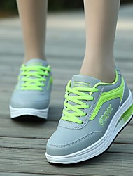 Women's Athletic Shoes Comfort PU Tulle Spring Casual Blushing Pink Blue Green Fuchsia Flat