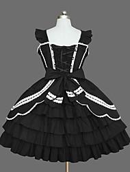 Un Pezzo/Vestiti Lolita Classica e Tradizionale Elegant Da principessa Cosplay Vestiti Lolita Di tendenza Tinta unita Vintage Ad aletta