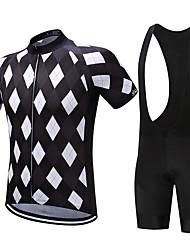 SUREA Cyklodres a kraťasy se šlemi Pánské Krátké rukávy Jezdit na kole Sady oblečení Rychleschnoucí Prodyšné Komprese Ter EmenCoolmax