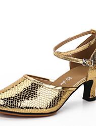 Na míru Dámské Latina Koženka Sandály Venku Přezka Kačenka Zlatá Stříbrná Zelená Modrá Růžová 2,5 - 3,6 cm