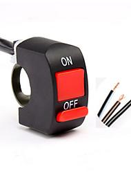 Commutateur de poignée de voiture électrique commutateur de guidon à trois lignes interrupteur double commutateur lumières led de moto