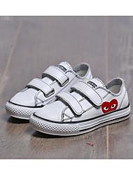 בנים נעלי ספורט נוחות עור אביב סתיו קזו'אל הליכה נוחות סקוטש עקב נמוך לבן שחור שטוח