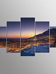Reprodukce maleb na plátněPět panelů Horizontální Grafika Wall Decor For Home dekorace