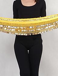Dança do Ventre Lenços de Quadril para Dança do Ventre Mulheres Apresentação Fibra Sintética Lantejoulas 1 Peça Xale de Dança do Ventre
