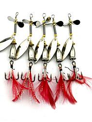 5 ks Pevné návnady Pohyblivé návnady Lžíce Kovové návnady g/Unce mm palecMořský rybolov Bait Casting Jigging Rybaření na háček Obecné