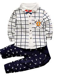 Boys' Print Sets,Rayon Spring Fall Long Sleeve Clothing Set