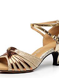 Na míru Dámské Latina Koženka Sandály Venku Přezka Kačenka Zlatá Černá Stříbrná 2,5 - 3,6 cm